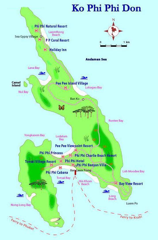 Карта острова Пи-Пи